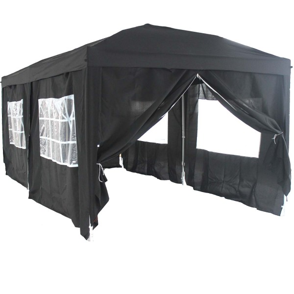 falt pavillon partyzelt 3x6m farbe schwarz k ka store. Black Bedroom Furniture Sets. Home Design Ideas